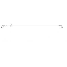 Item# BC560 Green Stripe MiniBore Extension Set, female luer-lock, slide clamp, male luer-lock, CODAN FlowStop Cap™ 50/CS