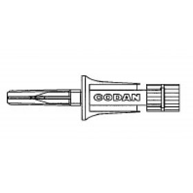 Item# C350 CODAN Spike with 0.2 micron air eliminating filter, female luer-lock with cap 50/CS