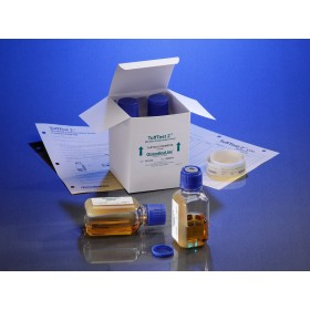 TuffTest2™ contamination tester, 100mL TSB with TSA in sterile plastic bottle, needle access port, 4 Testers / CS