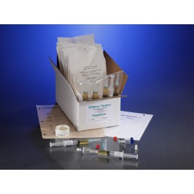 0.22µ Contamination tester, female luer lock inlet, male luer slip outlet, TSB Media, 10 Testers, 10 5cc Syringes of Media / CS