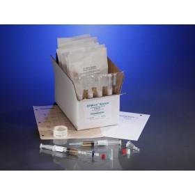 0.22µ Contamination tester, female luer lock inlet, male luer slip outlet, FTM Media, 10 Testers, 10 5cc Syringes of Media / CS