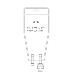 PVC 100mL empty bag – 2 Port, 1 inj. site & spike port 40/bx 200/CS