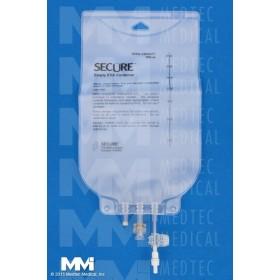 3000 ml EVA Legless Bag – Female Screw Connector, 50/CS